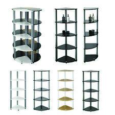 Corner Display Unit Shelf Cabinet 5 Tier Stand Storage Home Living Room Wooden