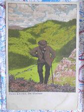Wanderer Landschaft Thoma Gemälde Kunstwerk Postkarte Ansichtskarte 3028