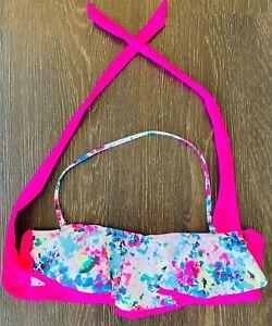 Express Women's Large Bikini Top / Swimsuit - Pink, White, Multicolor