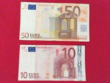 50 EURO + 10 EURO BANK NOTE MONEY AUTHENTIC NOTES