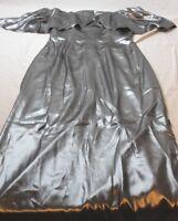 ABS Allen Schwartz Women's Gunmetal Silver Off Shoulder Gown In Lame Size 8 New