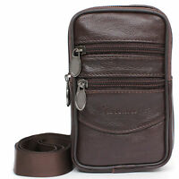 Tactical Cellphone Phone Pouch Leather Mini Messenger Bag Travel Bags Waist Pack
