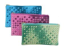 Damen-Clutch-Taschen aus Kunstleder mit Reißverschluss
