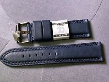 22MM EURO GENUINE SOFT LEATHER WATCH BAND DOUBLE STITCHED FITS MANY SWISS WATCH