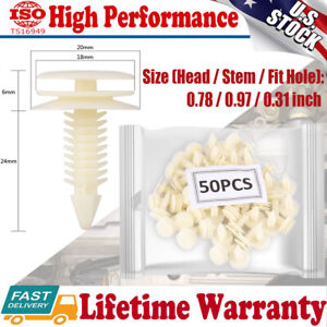 50Pcs Clip Trim Car Push Pin Rivet Retainer For GMC Chevy Buick Pontiac Express