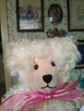Ooak pink mohair Artist Teddy bear by Jill Kenny, Vermont 14in Euc