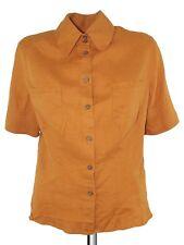 project moda camicia blusa donna arancione lino taglia m medium
