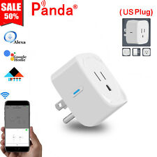Wifi Smart Plug Power Socket Outlet APP Remote Switch Work For Alexa Google Home