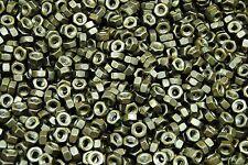 (1000) 1/4-20 Plain Grade 5 Hex Finish Nuts - Unplated - Coarse
