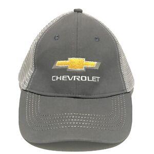 CHEVY Chevrolet TRUCKS Trucker hat Ball Cap Gray & White Genuine EUC
