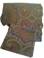 Vintage Ralph Lauren Pair of Brianna Paisley KING Pillowcases Brown Blue USA