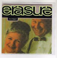 "ERASURE 7 "" Only Spain Promo Maxi AM I RIGHT ? 2 tracks 1992 / 17"