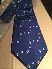 BlueTurnbull & Asser Woven Jacquard Floral Spotted Silk Tie
