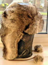 RUSSIAN STYLE USHANKA WINTER HAT THICK FAUX FUR REALISTIC