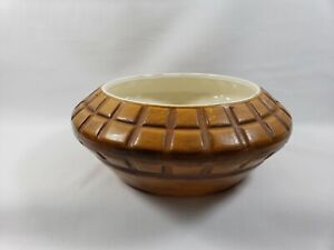 Haeger Basket Weave Planter Bowl