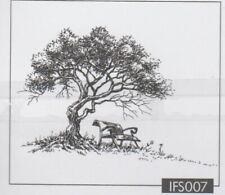 Nellie Snellen / Clear / Tree with Bench / UNMOUNTED / stamp / IFS007