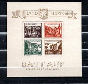 Germany 1945 SBZ Thuringen  souvenir sheet MNH