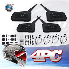 4 X BT Bluetooth Motorcycle Helmet Interphone Intercom Headset 6 Riders 1200M