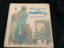 The Berenstain Bears and Too Much TV by Stan & Jan Berenstain hardcover 1984
