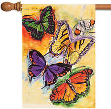 New Toland - Flight of the Butterflies - Colorful Butterfly Spring House Flag