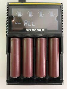 NITECORE D4 Ladegerät, perfekt für Dampfer mit 4 LG Batterien (18650)