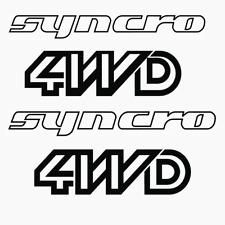 MASSIVE 2 x VW Syncro camper 2x 4WD Cast Vinyl Exterior stickers decals 120cm