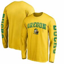 Oregon Ducks Fanatics Branded Arch Over Logo 2-Hit Long Sleeve T-Shirt - Yellow