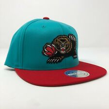 Vancouver Grizzlies NBA Mitchell & Ness Flex Fit Retro Logo Teal / Red Snapback