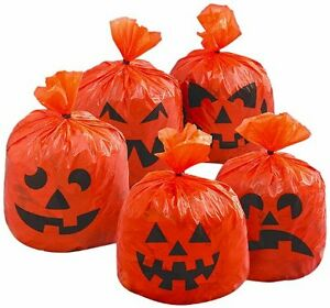 Halloween Hanging Decorations Pumpkin Hanging Tree Leaf Bags Party Bags x 20