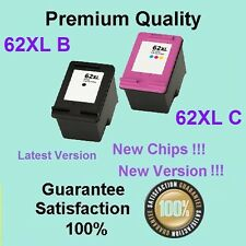 3x 62XL Ink Cartridges 2B1C Compatible for HP Envy 5540 Envy 5640 OFFICEJET 5740