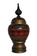 """12"""" Hand-Crafted Multi-Colored Wooden Candy Jar"""