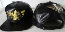 The Legend Of Zelda Metal Badge Faux Leather PU Snap Back Video Game Hat Nwt