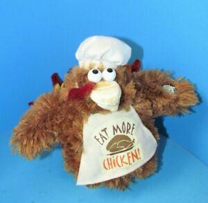"Dan Dee Rare ""Eat More Chicken"" Thanksgiving Dancing Turkey Works 7"" L@@K"