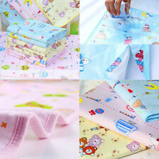 100% Cotton Cute Cartoon Baby Changing Mat Pad Waterproof Diaper Cloth Towel ~