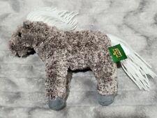 "Wild Republic Gray Realistic Horse Pony Plush Stuffed Toy Yarn Mane Tail 7"""