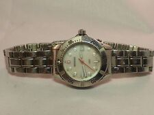 SWISS ARMY-WENGER-MOP DIAL-200M/660FT-ALL STAINLESS WOMEN'S DATE WATCH