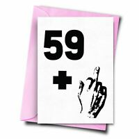 Rude 60th Birthday Card 59+ 1 Cheeky 60th Birthday Card For Boyfriend Her Dad