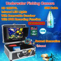 """Eyoyo 30M 7 """"Unterwasser Video Kamera Angeln 12pcs IR LED Fisch Finder Farbe 8GB"""
