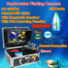 """Eyoyo 7 """"Monitor Infrarot Fishfinder Unterwasserkamera DVR w / Lichtsteuerung"""