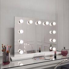 Hollywood SPECCHI HEPBURN Paesaggio Bianco bordo specchio illuminati 60 x 80cm