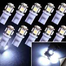 10X T10 194 168 W5W 5 SMD 5050 White LED Car Wedge Tail Side Light Lamp Bulb 12V