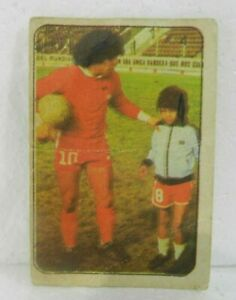 DIEGO ARMANDO MARADONA 1979 ORIGINAL FOOTBALL SOCCER CARD N°4