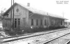 Brandon Mississippi Illinois Central train depot real photo pc Y11879