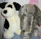 "Jellycat Plush Lot of 2 Bashful Puppy Woodland Bunny Rabbit 11"" Soft"