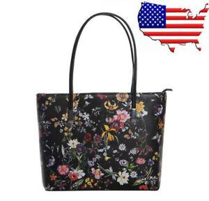 Fashion Women PU Leather Floral Messenger Handbag Shoulder Bag Lady Tote a