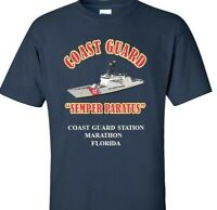 COAST GUARD STATION MARATHON-FLORIDA *COAST VINYL PRINT SHIRT/SWEAT
