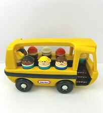 Vintage Little Tikes  Yellow School Bus With Driver and 9 Students Toddle Tots
