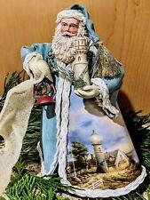 Thomas Kinkade Old World Santa #3 Lighthouse Santa