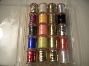 20 Spools of Wapsi UTC Tinsel in Multiple Styles & Colors-See Details