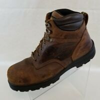 Carolina Work Safety Boots Steel Toe Waterproof Mens Brown Leather Lace Up 12 2E
